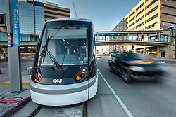 Testing phase of the new Kansas City streetcar line. Contractors include Herzog  Contracting Corp, Stacy & Witbeck, & HDR Engineering. Streetcar vehicles manufactured by CAF USA.