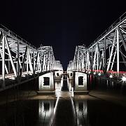 Natchez–Vidalia Bridge crossing the Mississippi River at Natchez, Mississippi.
