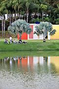 Brumadinho_MG, Brasil...Centro de Arte Contemporanea Inhotim (CACI). Na foto a obra de Helio Oiticica, Invencao da cor, Penetravel Magic Square # 5, De Luxe, 1997...Inhotim Contemporary Art Center (CACI). In this photo the art of Helio Oiticica, Invencao da cor, Penetravel Magic Square # 5, De Luxe, 1997...Foto: NIDIN SANCHES / NITRO