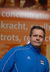 20-12-2013 VOLLEYBAL: PERSCONFERENTIE ORANJE MANNEN EN VROUWEN: ARNHEM<br /> Op Papendal werd een perslunch met de Oranje mannen en vrouwen georganiseerd / Gido Vermeulen<br /> &copy;2013-FotoHoogendoorn.nl