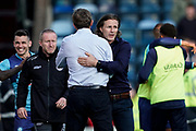 Wycombe Wanderers Manager Gareth Ainsworth congrats Sunderland Manager Phil Parkinson during the EFL Sky Bet League 1 match between Wycombe Wanderers and Sunderland at Adams Park, High Wycombe, England on 19 October 2019.