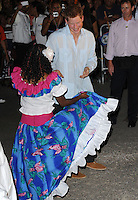 Prince Harry attends a street-naming and street party at HM Queen Elizabeth II Boulevard, Belmopan, Belize, on the 2nd March 2012.