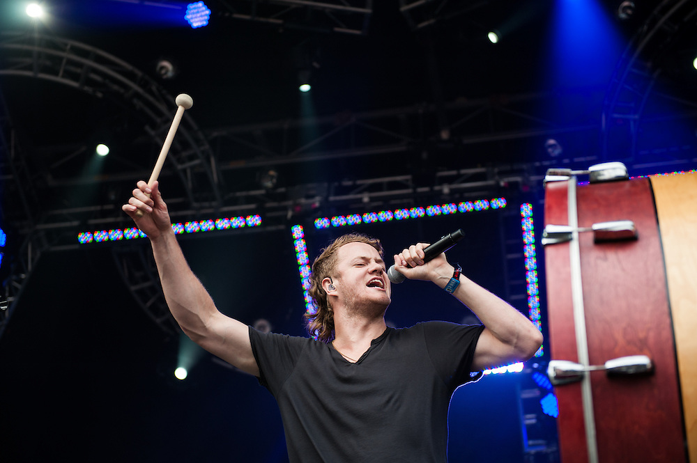 Dan Reynolds of Imagine Dragons at Lollapalooza