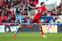 Marlon Pack of Bristol City is challenged by Joe Newell of Rotherham United - Rogan Thomson/JMP - 04/02/2017 - FOOTBALL - Ashton Gate Stadium - Bristol, England - Bristol City v Rotherham United - Sky Bet Championship.