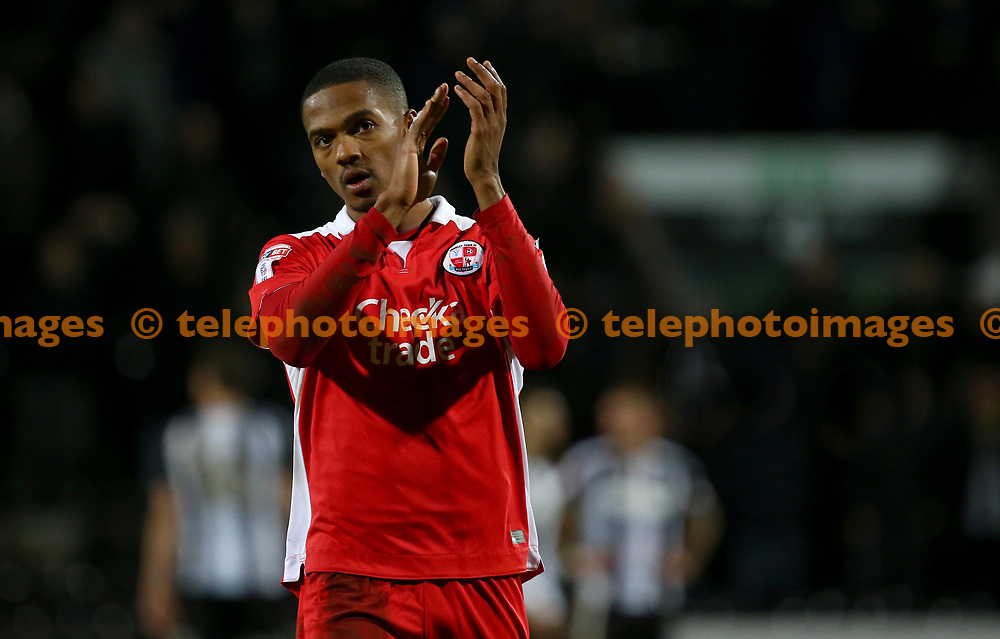 Crawley's Lewis Young  during the Sky Bet League 2 match between Notts County and Crawley Town at Meadow Lane in Nottingham. 23 Jan 2018