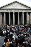 Roma 14/11/2008 - Manifestazione Studentesca contro il decreto legge Gelmini e la riforma dell'Università. Foto G. Marino