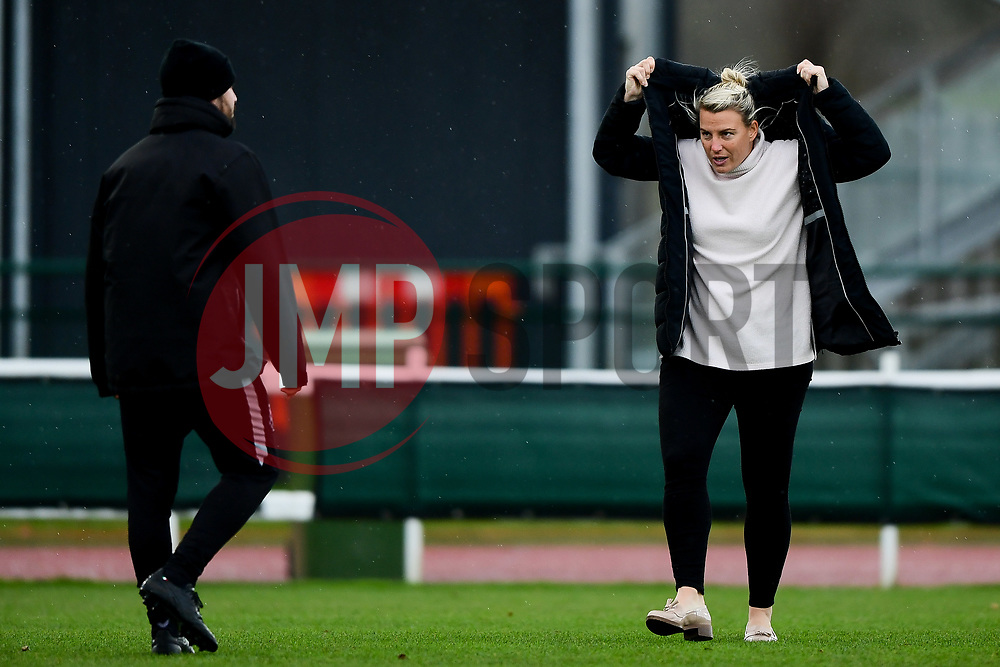 Tanya Oxtoby talks with Marco Chiavetta prior to kick off - Mandatory by-line: Ryan Hiscott/JMP - 08/12/2019 - FOOTBALL - Stoke Gifford Stadium - Bristol, England - Bristol City Women v Birmingham City Women - Barclays FA Women's Super League
