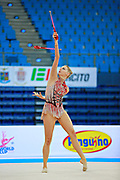 Ruprecht Nicol during qualifying at clubs in Pesaro World Cup at Adriatic Arena on April 11, 2015. Nicol born on October 2, 1992 in Innsbruck. She is a rhythmic gymnast member of the Austria National Team.
