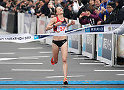 Amy Hastings aka Amy Cragg(USA) places third in the women's race in 2:21:42 in Tokyo Marathon in Tokyo, Sunday, Feb. 25, 2018. (Jiro Mochizuki/Image of Sport)