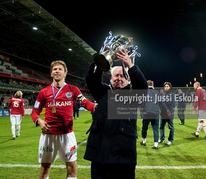 Stefan Håkans, Henri Lehtonen. TamU - Inter. Suomen Cupin finaali. Helsinki 31.20.2009. Photo: Jussi Eskola