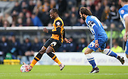Hull City midfielder Sone Aluko (24) during the The FA Cup match between Hull City and Brighton and Hove Albion at the KC Stadium, Kingston upon Hull, England on 9 January 2016.