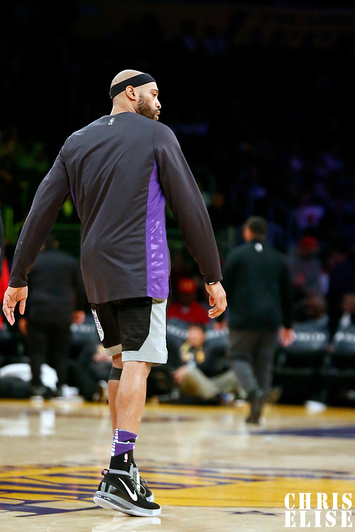 09 January 2018: Sacramento Kings guard Vince Carter (15) is seen during the LA Lakers 99-86 victory over the Sacramento Kings, at the Staples Center, Los Angeles, California, USA.