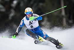 27.01.2013, Ganslernhang, Kitzbuehel, AUT, FIS Weltcup Ski Alpin, Slalom, Herren, 1. Lauf, im Bild Jens Byggmark (SWE) // Jens Byggmark of Sweden in action during 1st run of the  mens Slalom of the FIS Ski Alpine World Cup at the Ganslernhang course, Kitzbuehel, Austria on 2013/01/27. EXPA Pictures © 2013, PhotoCredit: EXPA/ Johann Groder