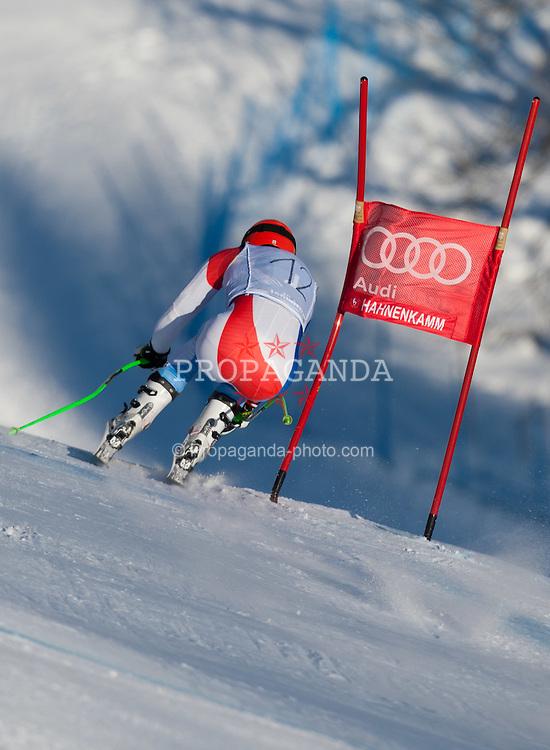 18.01.2012, Hahnenkamm, Kitzbuehel, AUT, FIS Weltcup Ski Alpin, 72. Hahnenkammrennen, Herren, Abfahrt 2. Training, im Bild Patrick Kueng (SUI) // Patrick Kueng of Switzerland during Downhill 2nd practice of 72th Hahnenkammrace of FIS Ski Alpine World Cup at 'Streif' course in Kitzbuhel, Austria on 2012/01/18. EXPA Pictures © 2012, PhotoCredit: EXPA/ Johann Groder