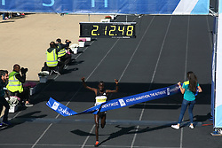 November 13, 2016 - Athens, Greece - Winner of the Athens Marathon the Authentic was Luka Rotich Lobuwam from Kenya.l.50.000 long range runners take part in the 42 killometers long Athens Marathon the Authentic in Greece starting from the City of Marathona and ending at Kalimarmaro Stadium in Athens. (Credit Image: © George Panagakis/Pacific Press via ZUMA Wire)