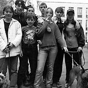 1999, Moscow - Ragazzi del quartiere di Planyernaya