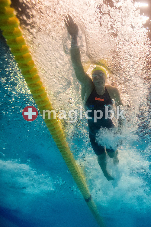 Sarah SJOSTROM (SJOESTROEM) of Sweden competes in the women's 100m Freestyle Heats during the 17th European Short Course Swimming Championships held at the Jyske Bank BOXEN in Herning, Denmark, Thursday, Dec. 12, 2013. (Photo by Patrick B. Kraemer / MAGICPBK)