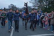 19th March 2016, Gordon Elliott trained Don Cossack homecoming to Summerhill<br /> Cheltenham winner Don Cossack comes home to Summerhill<br /> Photo: David Mullen /www.cyberimages.net / 2016