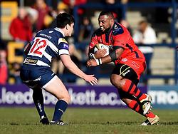 Bristol Rugby Prop Jamal Ford-Robinson  - Mandatory byline: Joe Meredith/JMP - 28/02/2016 - RUGBY - Headingley Stadium -Leeds,England - Yorkshire Carnegie v Bristol Rugby - Greene King IPA Championship