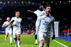 Victor Camarasa of Cardiff City celebrates scoring a goal to make it 1-0 - Mandatory by-line: Robbie Stephenson/JMP - 29/12/2018 - FOOTBALL - King Power Stadium - Leicester, England - Leicester City v Cardiff City - Premier League