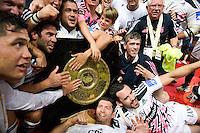 Jerome FILLOL / Geoffrey DOUMAYROU / Pierre RABADAN  - 13.06.2015 - Clermont / Stade Francais - Finale Top 14<br />Photo : Nolwenn Le Gouic / Icon Sport