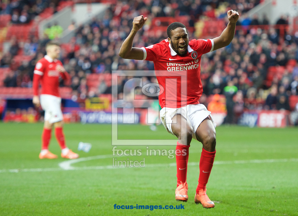 Zakarya Bergdich of Charlton Athletic shows his frustration after missing a good chance to score during the Sky Bet Championship match at The Valley, London<br /> Picture by Alan Stanford/Focus Images Ltd +44 7915 056117<br /> 06/02/2016