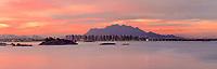 Brasil - ES - Vitoria - Vista Panoramica da Praia de Camburi ao anoitecer com vista para o Mestre Alvaro. Foto: David Protti.