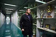 PARMA 2016-12-23:  REPORTAGE PARMA CALCIO.<br /> Parmas vice spresident Marco Ferrari passerar pris-sk&aring;pen utanf&ouml;r styrelserummet p&aring; Stadio Ennio Tardini.<br /> Foto: Nils Petter Nilsson