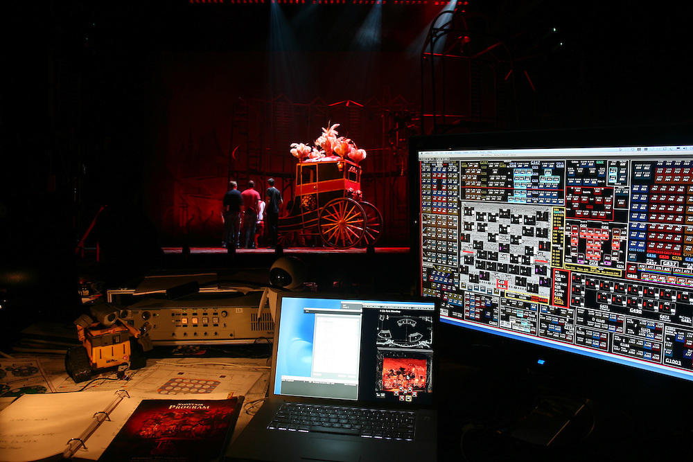 A Tale of Two Cities, Hirschfeld Theatre NYC - Tech.  Virtual Magic Sheet Display.  Photo © Michael Gottlieb