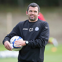 St Johnstone assistant manager Callum Davidson during training....30.08.14<br /> Picture by Graeme Hart.<br /> Copyright Perthshire Picture Agency<br /> Tel: 01738 623350  Mobile: 07990 594431