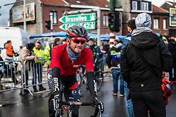 Rider of BMC Racing Team at Ans after the finish, the 102th edition of Li&egrave;ge-Bastogne-Li&egrave;ge race running 253 km from Li&egrave;ge to Li&egrave;ge, Belgium, 24 April 2016.<br /> Photo by Pim Nijland / PelotonPhotos.com<br /> <br /> All photos usage must carry mandatory copyright credit (&copy; Peloton Photos | Pim Nijland)