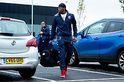 Fred Thomas of Bristol Flyers heads towards the bus before leaving the Village Hotel to travel to Worcester Wolves - Photo mandatory by-line: Ryan Hiscott/JMP - 01/11/2019 - BASKETBALL - University of Worcester - Bristol, England - Worcester Wolves v Bristol Flyers - British Basketball League Cup