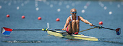 Lucerne, SWITZERLAND. Heat of the Women's Single Sculls. USA W1X, Genevra STONE, 2015 FISA World Cup III, Lake Rotsee,  11:40:10  Friday  10/07/2015   [Mandatory Credit. Peter SPURRIER/Intersport Images. .   Empacher.