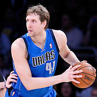 04 April 2014: Dallas Mavericks forward Dirk Nowitzki (41) is seen during the Dallas Mavericks 107-95 victory over the Los Angeles Lakers at the Staples Center, Los Angeles, California, USA.