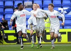 Tranmere Rovers's George Green celebrates scoring the equalising goal - Photo mandatory by-line: Richard Martin-Roberts/JMP - Mobile: 07966 386802 - 28/03/2015 - SPORT - Football - Birkenhead - Prenton Park - Tranmere Rovers v AFC Wimbledon - Sky Bet League Two
