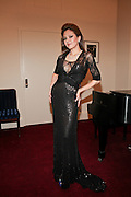 """NEW YORK - JANUARY 19:  Pianist Lola Astanova poses back stage before her performance of """"A Tribute to Horowitz"""" presented by the American Cancer Society at Carnegie Hall on January 19, 2012 in New York City.  (Photo by Matthew Peyton/Getty Images) *** Local Caption *** Lola Astanova"""