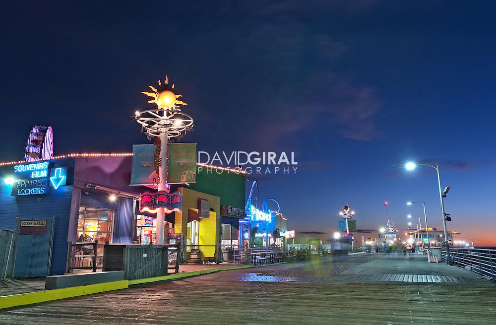 Blue hour on Santa Monica Pier | An Evening at Santa Monica Pier, Los Angeles, California, USA