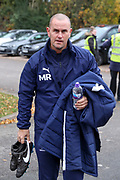 AFC Wimbledon coach Mark Robinson arriving during the The FA Cup match between AFC Wimbledon and Doncaster Rovers at the Cherry Red Records Stadium, Kingston, England on 9 November 2019.