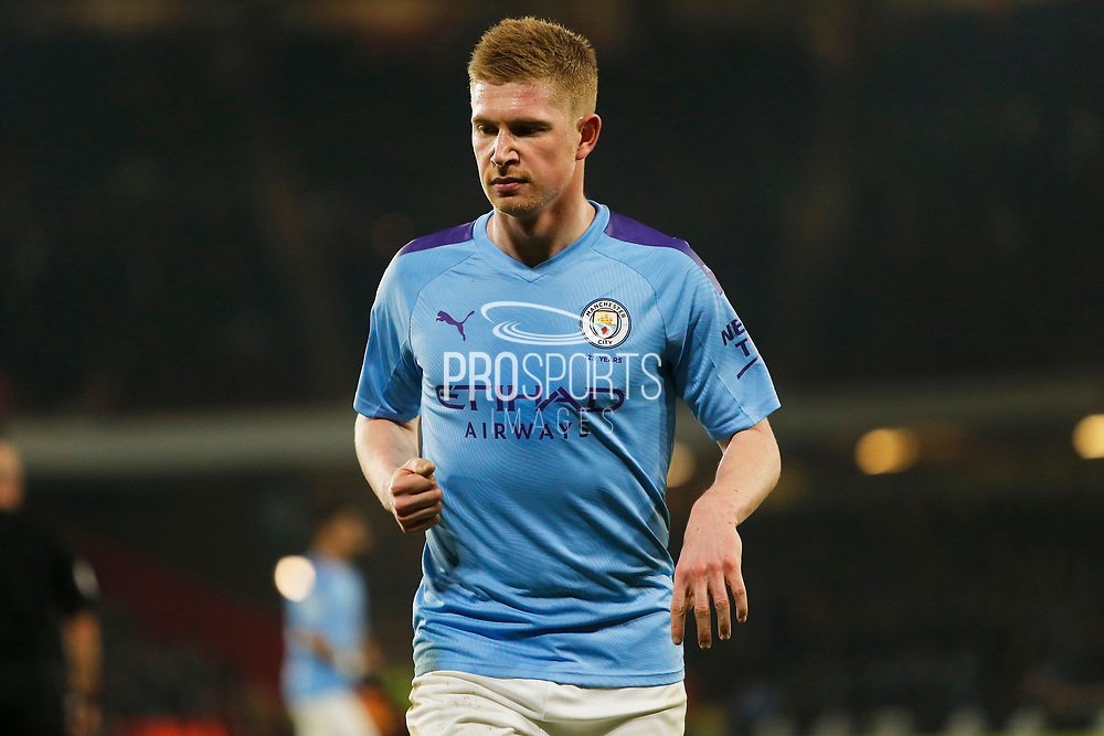 Kevin De Bruyne in action during the Premier League match between Sheffield United and Manchester City at Bramall Lane, Sheffield, England on 21 January 2020.