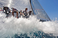 Rusal-Synergy off the start line of Race 7 at the AUDI Medcup in Cagliari
