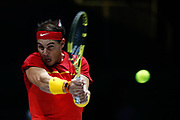Rafael Nadal, player of Spain Team, in action during his match played against Karen Khachanov, player of Russia Team, during the Davis Cup 2019, Tennis Madrid Finals 2019 on November 19, 2019 at Caja Magica in Madrid, Spain - Photo Oscar J Barroso / Spain ProSportsImages / DPPI / ProSportsImages / DPPI