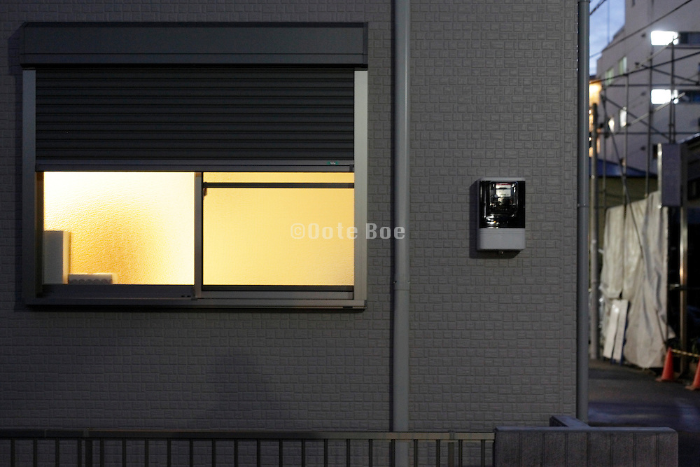 house window with light coming from inside Japan