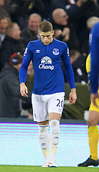 NEWCASTLE-UPON-TYNE, ENGLAND - Sunday, December 28, 2014: Everton's Ross Barkley looks dejected as Newcastle United score the third goal during the Premier League match at St. James' Park. (Pic by David Rawcliffe/Propaganda)