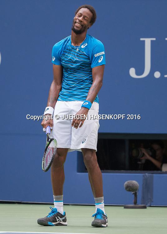 GAEL MONFILS (FRA) reagiert enttaeuscht,Frust,Emotion,<br /> <br /> Tennis - US Open 2016 - Grand Slam ITF / ATP / WTA -  USTA Billie Jean King National Tennis Center - New York - New York - USA  - 9 September 2016.
