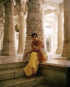 Jain monk, Ranakpur Jain Temple, India