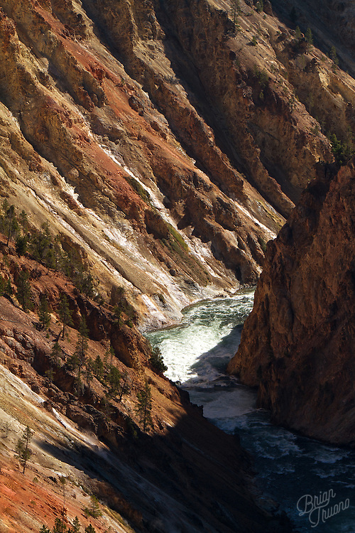 The mighty river that flows through and carved this canyon garnered it's name from the color of the rock walls.