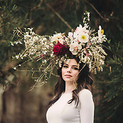 spring 18 floral head piece waihi shoot
