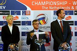 12-11-2014 BEL: Loting EK volleybal 2015 vrouwen, Antwerpen<br /> In het Antwerpse stadhuis werd door de Nederlandse-, Belgische volleybalbond en de CEV de loting voor het EK vrouwen verricht / Toernooi directeuren Peter Blange en Virginie de Carne, slovenia