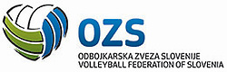 Logo of OZS, update in june 2014 by Volleyball Federation of Slovenia.
