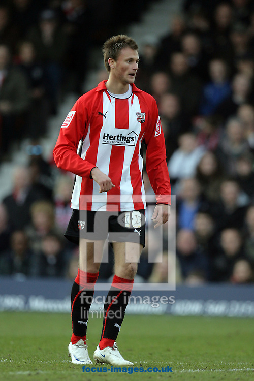 London - Saturday, March 14th, 2009: Brentford goalscorer Sam Williams during the Coca Cola League Two match at Griffin Park, London. (Pic by Mark Chapman/Focus Images)